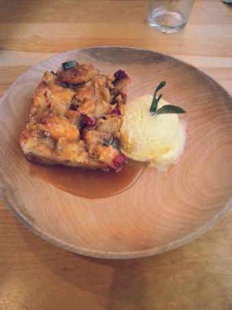 Bonavista Social Club partridgeberry bread pudding