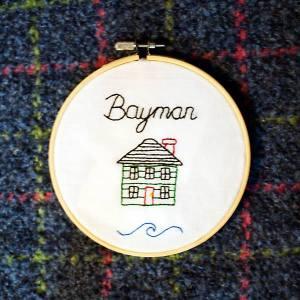 "Modern Nan ""Bayman"" embroidery"